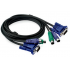 2 Port KVM Switch PS/2 Controller With 2 Cables For PC
