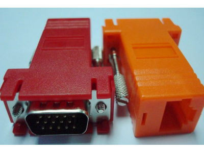 RJ45 female to VGA 15pin male modular adpater