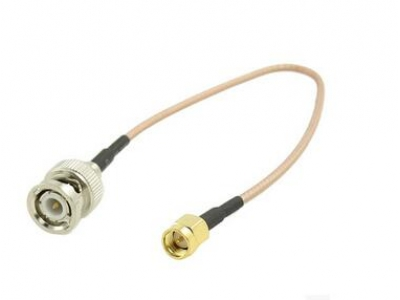 BNC female jack to SMA male plug connector RG174 rf pigtail cable