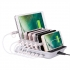 Multip 6 Ports Tablet Phone Smartwatch Organizer USB Charger Charging Dock Station With EU/UK/US/AU/JP charging cable