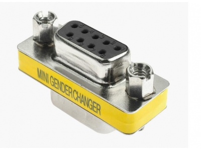 Mini Gender Changer Db9pin Male To Db9 Female Connector