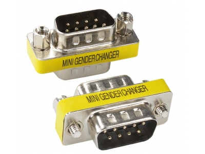 Mini Gender Changer 9pin male to male adapter
