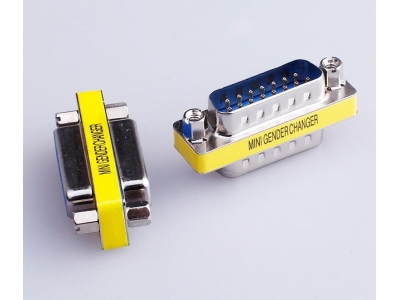 Mini Gender Changer DB15 Male to DB15 Male adapter