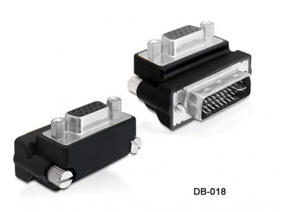 Right Angled 90 Degree VGA SVGA Female To DVI 24+5 male DVI to VGA Adapter