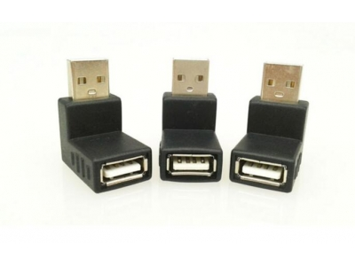 90 degree USB 2.0 A female to USB2.0 male adapter