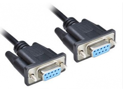 RS-232 Null Modem Cable D-SUB Cable DB9F TO DB9F
