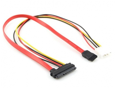SATA22P To 7Pin +4Pin Power Cable