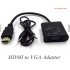 1080P HDMI to VGA Adapter digital Converter With 3.5mm Audio Cable