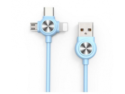 3 In 1 USB2.0 Multi Function Mobile Charging Cable