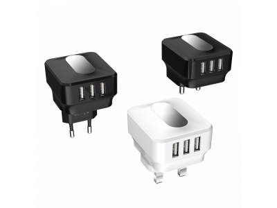 5v 2.1A 3 Port Mobile Phone USB Home Wall Charger for smartphones charger