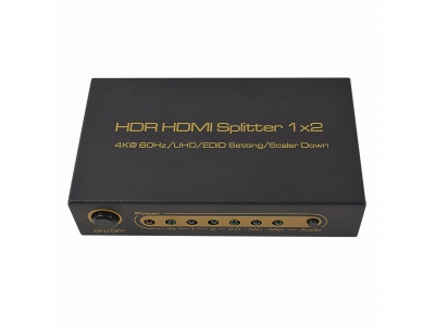 HDR HDMI Splitter 1x2  4K@ 60Hz /UHD/EDID Setting/Scaler Down