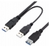 High Speed 2 in 1 cable of 1 USB female to 2 USB 3.0 male extension Cable