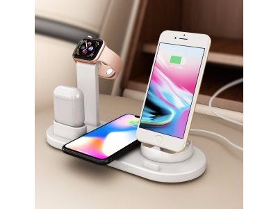 3in1 charging station with wireless pad charging stand for apple watch and airpods