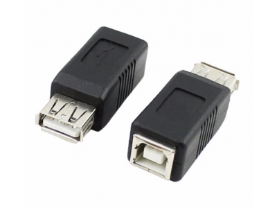 USB type A to B Female Adapter USB2.0 A Female to B Female Adapter